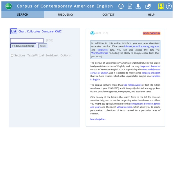 Corpus of Contemporary American English (COCA)