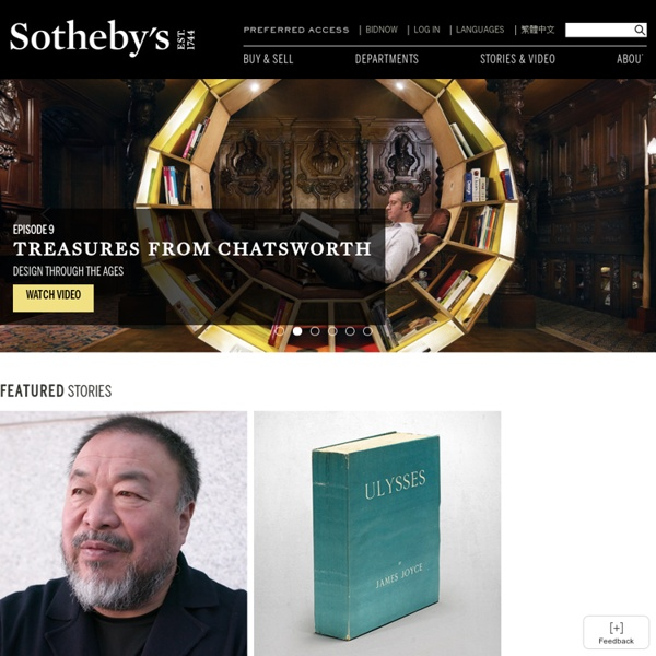 Sotheby's: Fine Art Auctions & Private Sales for Contemporary, Modern & Impressionist, Old Master Paintings, Jewellery, Watches, Wine, Decorative Arts, Asian Art & more