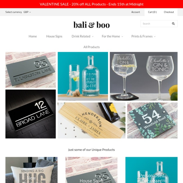 Contemporary House Signs & Unique Personalised Gifts – baliandboo