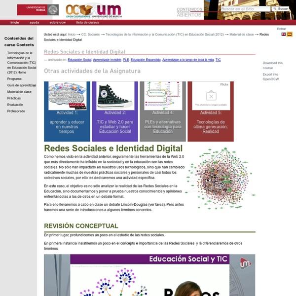 Redes Sociales e Identidad Digital — Portal de contenidos y cursos abiertos y gratuitos de la Universidad de Murcia