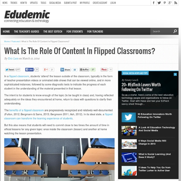 What Is The Role Of Content In Flipped Classrooms?