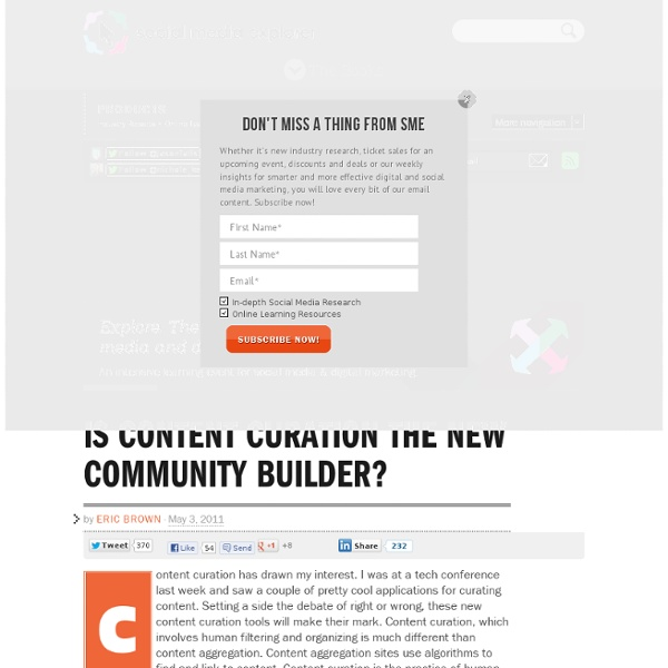Is Content Curation the New Community Builder?
