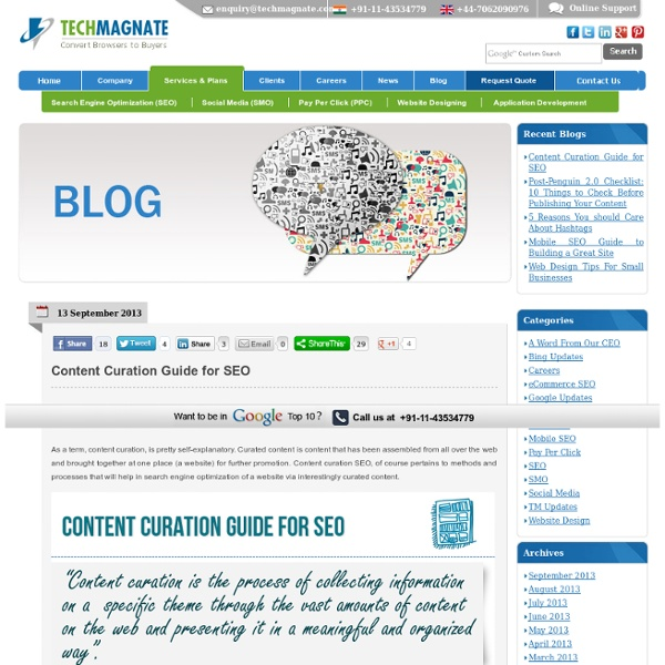 Content Curation Guide for SEO