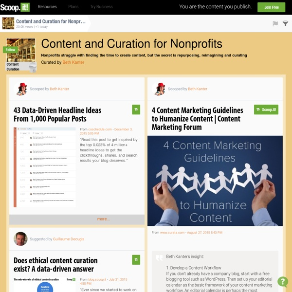 Content and Curation for Nonprofits