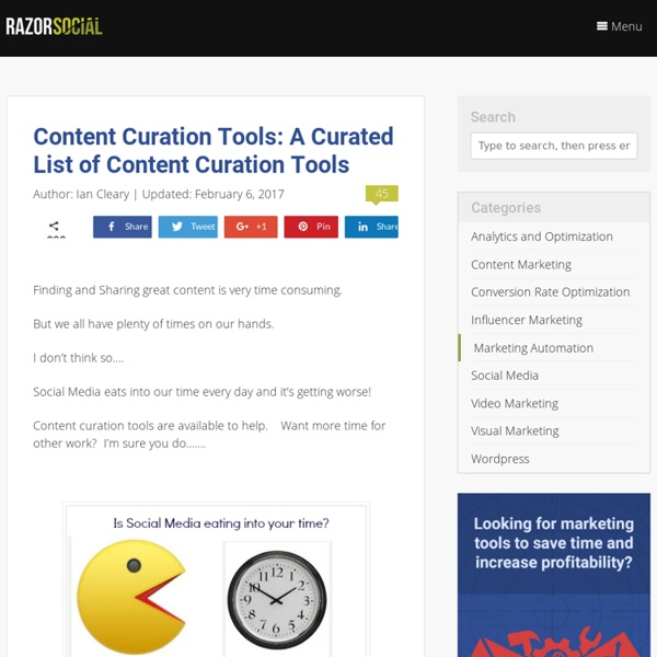 A Curated List of Content Curation Tools