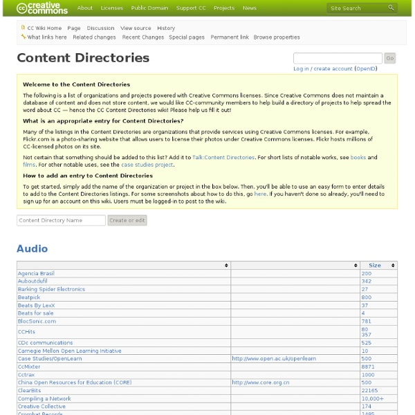 Contenuti audio immagini creative commons