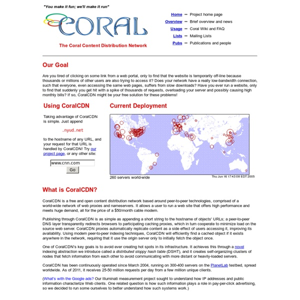 The Coral Content Distribution Network