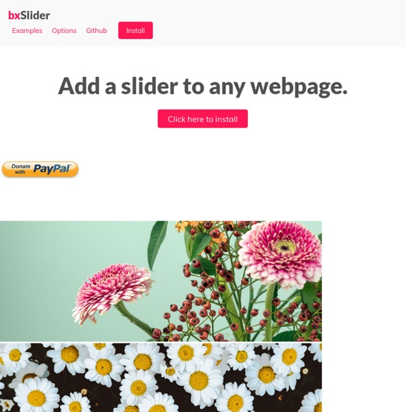 jQuery content slider carousel image slideshow