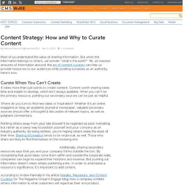 Content Strategy: How and Why to Curate Content