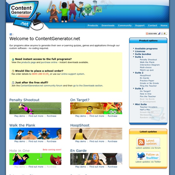 ContentGenerator.net - create your own Educational Flash games