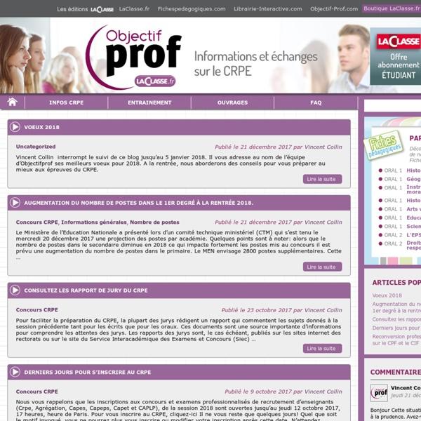 Objectif-Prof pour devenir professeur des écoles