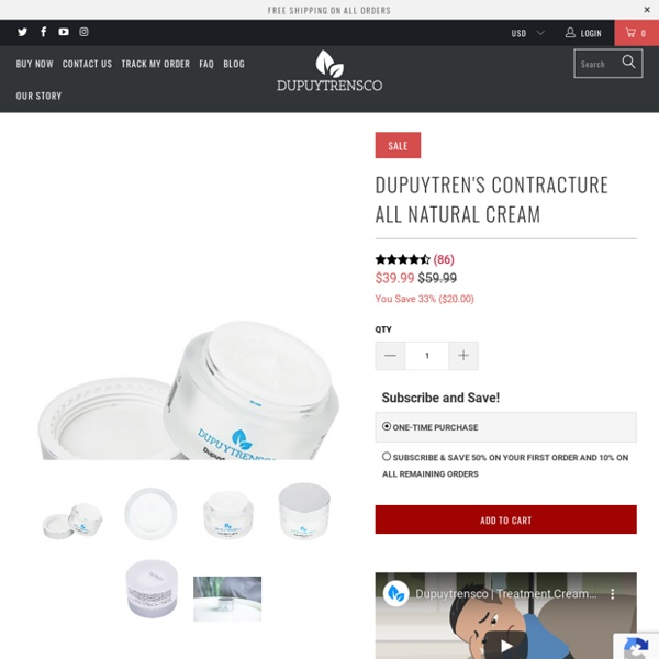 Dupuytren's Contracture All Natural Cream - dupuytrensco