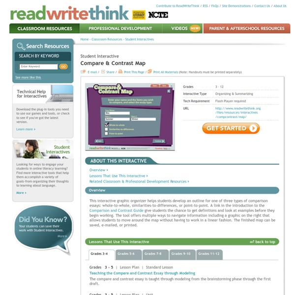 Read Write Think Compare and Contrast Graphic Organizer