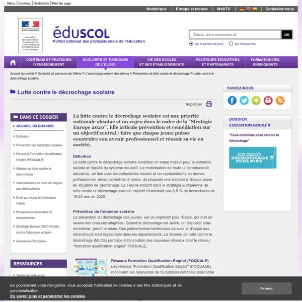 Eduscol_Prevention du décrochage scolaire