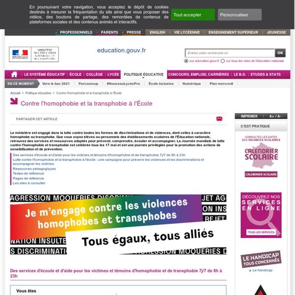 Contre l'homophobie à l'École