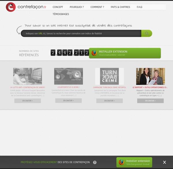 La base multi-marques des sites de contrefaçon