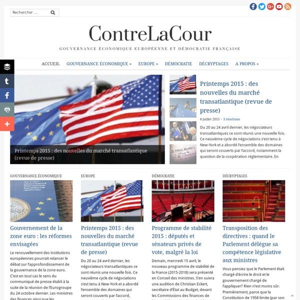 ContreLaCour- Gouvernance économique européenne et démocratie française