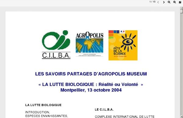 Les savoirs partages d'agropolis museum-:la lutte biologique.pdf