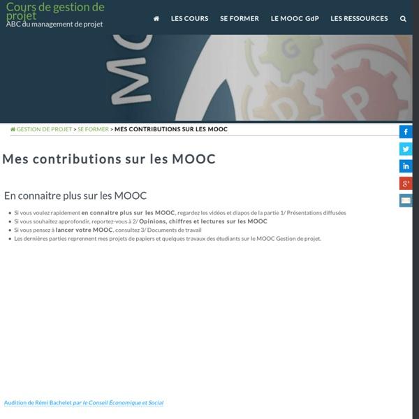 Recherche sur les MOOC