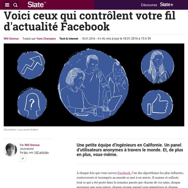 Voici ceux qui contrôlent votre fil d'actualité Facebook