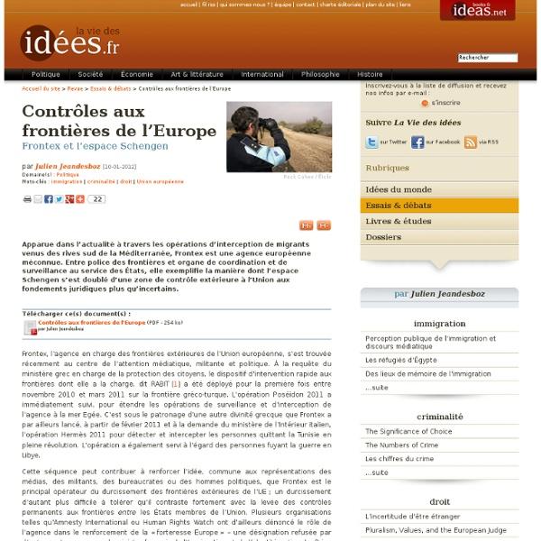 Contrôles aux frontières de l'Europe
