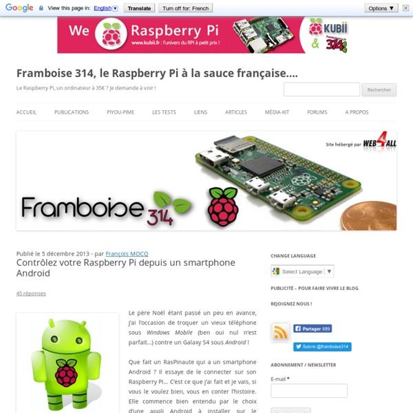 Contrôlez votre Raspberry Pi depuis un smartphone Android