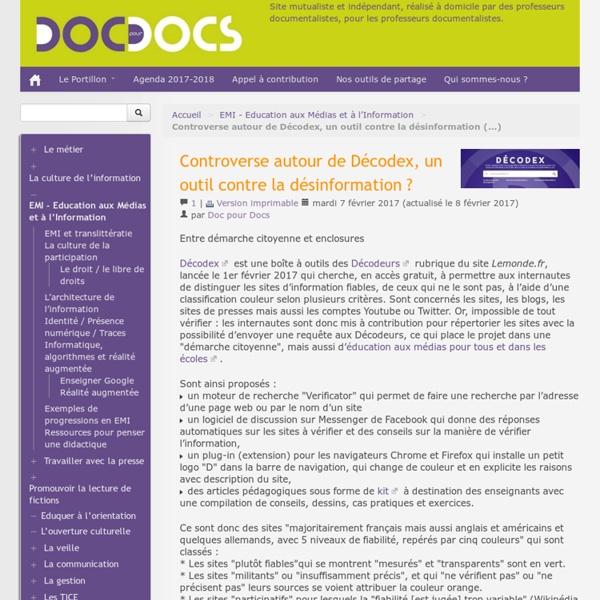Controverse autour de Décodex, un outil contre la désinformation ?