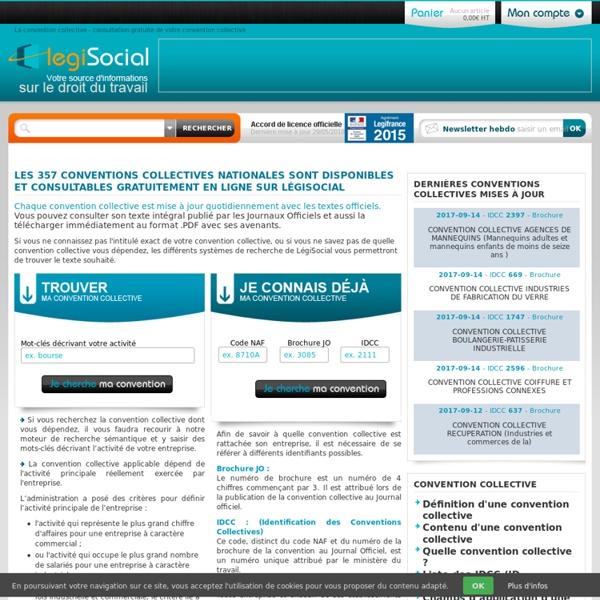 Convention collective LégiSocial