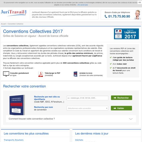 Convention Collective 2017 des journaux officiels et grilles de salaires