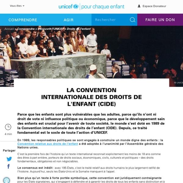 Les droits de l'enfant, et leur « Convention internationale » (CIDE)