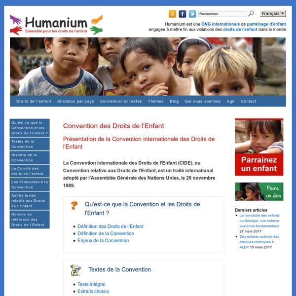 Convention internationale des Droits de l'Enfant (CIDE)