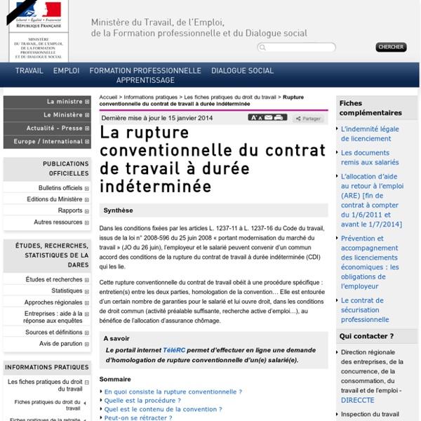 La rupture conventionnelle du contrat de travail à durée indéterminée