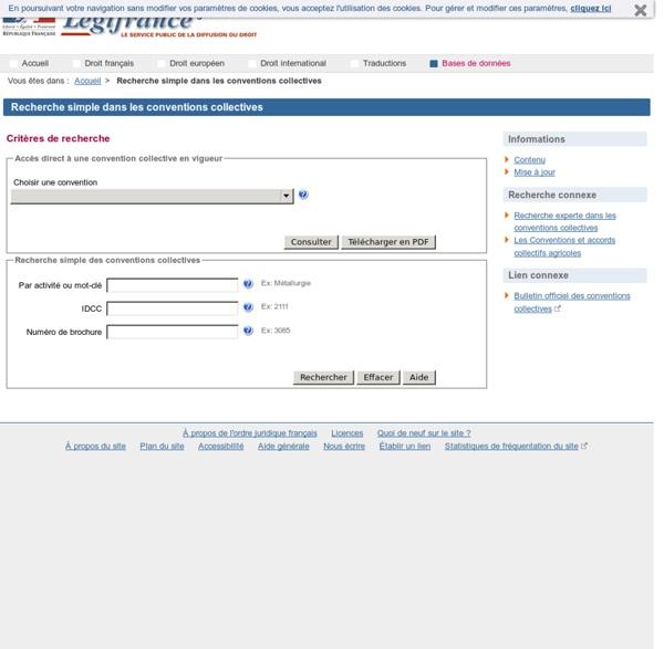 Convention collective site Légifrance