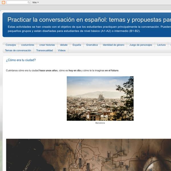Clases de conversación de español: temas y propuestas para el aula