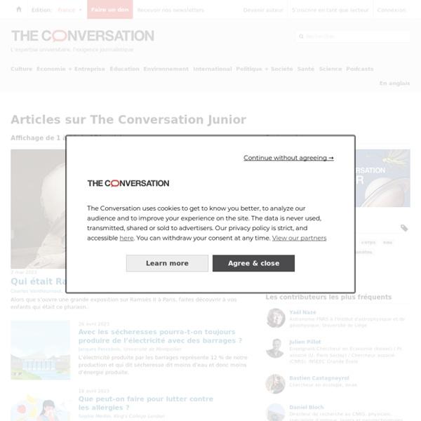 The Conversation Junior – information, recherche et analyse – The Conversation France, page 1