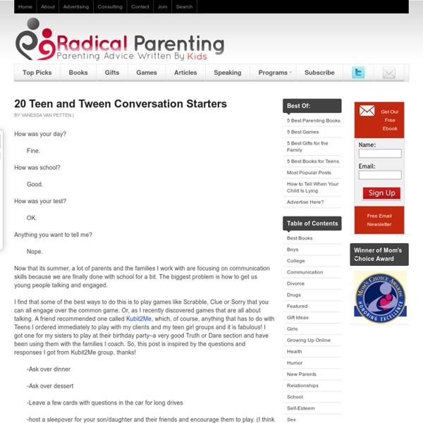20 Teen and Tween Conversation Starters