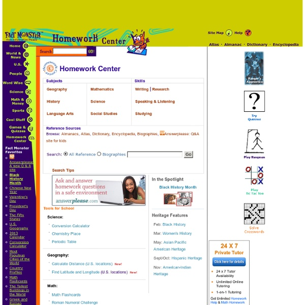 Homework help, writing help, study skills, conversion calculator, periodic calculator, math help