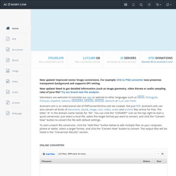 Convert document, image, video, audio files online
