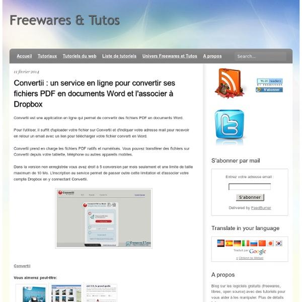 Un service en ligne pour convertir ses fichiers PDF en documents Word et l'associer à Dropbox