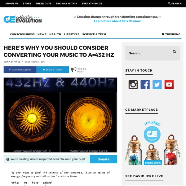 Here's Why You Should Consider Converting Your Music To A=432 Hz – Collective Evolution