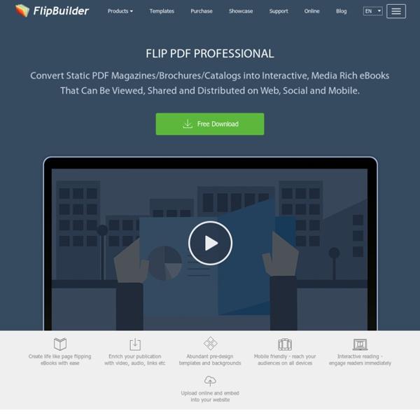 Flip Book Maker for Converting PDF to Flip Book eBook for Digital Magazine Publishing. [FlipBuilder.com]