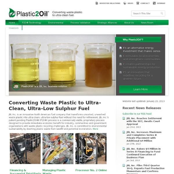 Plastic2oil - Converting Plastic to Oil