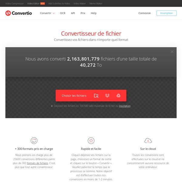 Convertio — Convertisseur de fichier