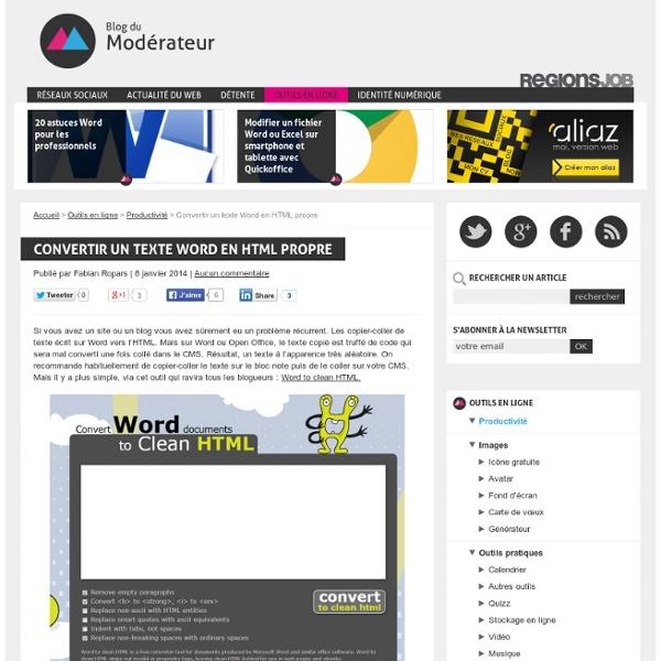 Convertir un texte Word en HTML propre