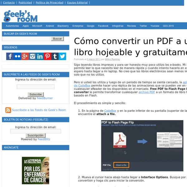 Cómo convertir un PDF a un libro hojeable y gratuitamente