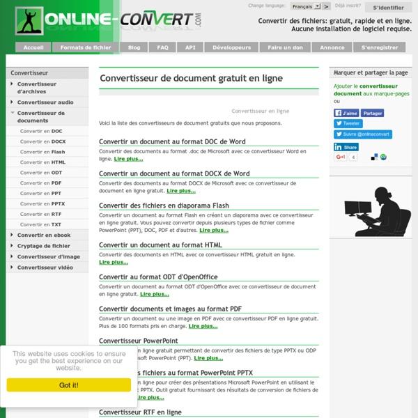 Convertir un document en ligne