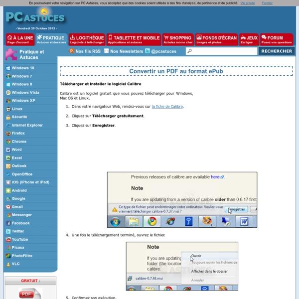 Convertir un PDF au format ePub