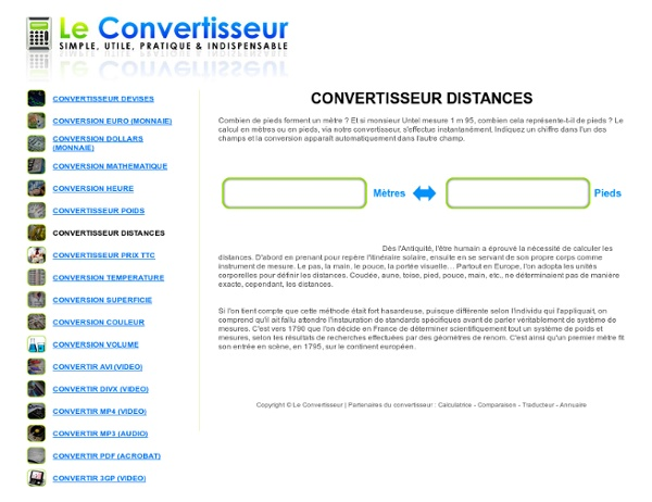 Convertisseur de distance