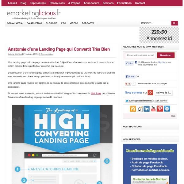 Anatomie d'une Landing Page qui Convertit Très Bien