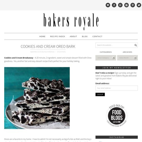 Cookies and Cream Oreo Bark